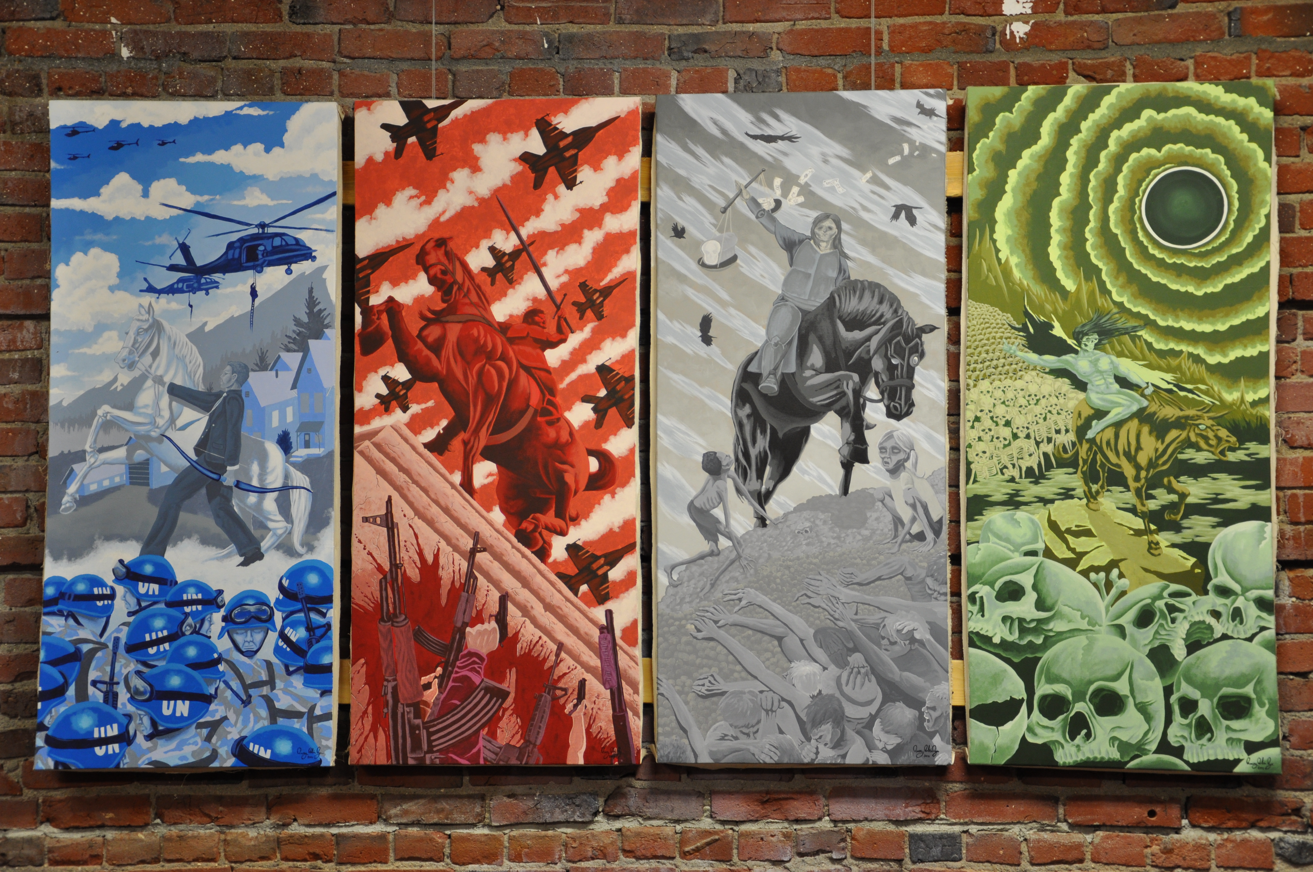 The four horsemen of the apocalypse painting best for Best mural paint